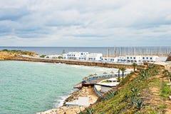 Bay in Monastir, Tunisia. On cloudy day Stock Photos