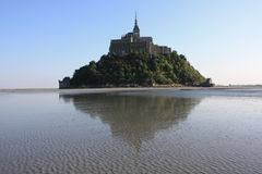 In the Bay of Mont Saint Michel. (Normandy, France Royalty Free Stock Photography