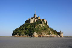 In the Bay of Mont Saint Michel Stock Photography