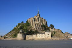 In the Bay of Mont Saint Michel. (Normandy, France Stock Photos