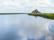 Bay of Mont Saint-Michel, France Royalty Free Stock Photos
