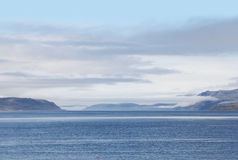 Bay and mountains, Norway Royalty Free Stock Photography
