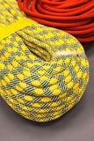Bay of multicolored climbing rope for climbing. Royalty Free Stock Photo