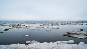 The Bay of Nagaev / Spring Royalty Free Stock Images