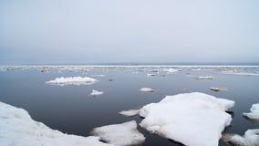 The Bay of Nagaev / Spring stock image