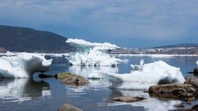 The Bay of Nagaev / Spring Royalty Free Stock Photos