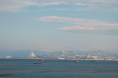 Bay Nakhodka. Winter. Royalty Free Stock Image