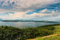 Bay by name Vladimir Russia Primorsky Krai. Russia Far East Region Sea of Japan. Bay by name Vladimir Russia Primorsky Krai Royalty Free Stock Photography