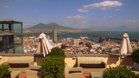 Bay of naples. From terrasse volcano italy europe stock image