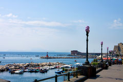 Bay of Naples,  sea-front Royalty Free Stock Image