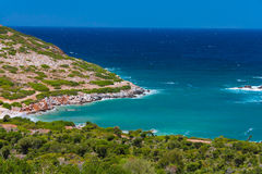Bay near Agia Pelagia. Green bay near Agia Pelagia, Cree, Greece Royalty Free Stock Photography