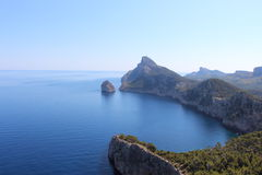 Bay near Cap Formentor Stock Images