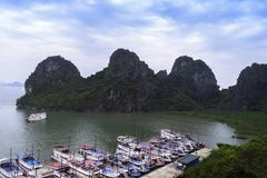Bay near Dong Thien Cung Cave. Royalty Free Stock Photography
