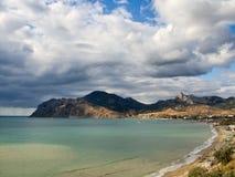 Bay near Koktebel in Crimea Stock Images