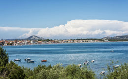 The bay near the town of Laganas on the island of Zakynthos Gre Royalty Free Stock Photos
