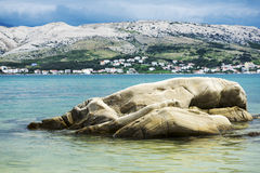 The bay near the town of Pag, Croatia, Europe Royalty Free Stock Image