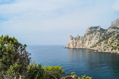 Bay in the New World. The landscape of the bay in the Crimea on the trail Golitsyn Stock Images