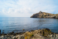 Bay in the New World. The landscape of the bay in the Crimea on the trail Golitsyn Stock Photography