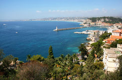 Bay of Nice, Cote d'Azur Stock Images