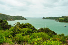 Bay in Northland. Bay with boats in the Northland, North Island of New Zealand Royalty Free Stock Photos