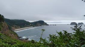 Bay. Ocean views in Oregon Royalty Free Stock Photos