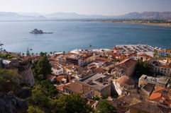 Bay Of Nafplion With Island Stock Photo