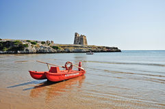 Bay Of Sfinale In Apulia. Italy. Stock Photos