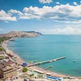 Bay. One of the coastlines in Sudak, Crimea, Ukraine Royalty Free Stock Image