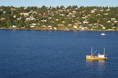 Bay of Oslofjord in Norway Royalty Free Stock Image