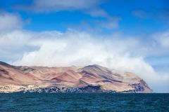 Bay of Pacific Ocean on sunny day. Bay of the Pacific Ocean on a sunny day royalty free stock images