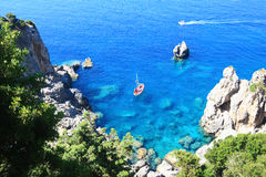 The bay of paleokastritsa Royalty Free Stock Photo
