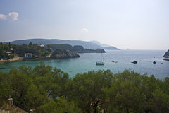 Bay of paleokastritsa, corfu, greece Royalty Free Stock Photography
