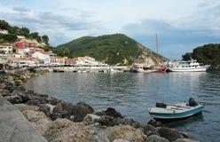 Bay in Parga town. Royalty Free Stock Photo