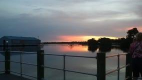 Bay Park, Crystal河佛罗里达Sunsets50国王 免版税库存照片