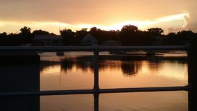 Bay Park, Crystal河佛罗里达Sunsets81国王 免版税库存照片