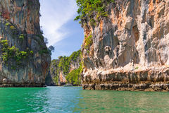 Bay of Phang Nga National Park in Thailand. Amazing landscapes of Phang Nga National Park in Thailand Stock Photo