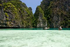Bay at Phi phi island in Thailand Stock Photography