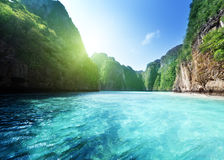 Bay at Phi phi island Royalty Free Stock Images