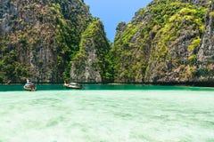 Bay at Phi phi island in Thailand Stock Photos