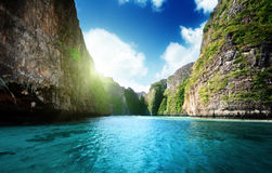 Bay at Phi phi island. In Thailand stock images