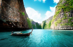 Bay at Phi phi island in Thailand Stock Photo