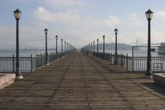 Bay Pier royalty free stock images