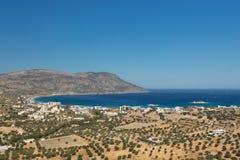 The bay of Pigadia on the greek island Karpathos Stock Photos