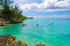 BAY OF PIGS, CUBA - SEPTEMBER 9, 2015:  Tourist Royalty Free Stock Image