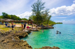 BAY OF PIGS, CUBA - SEPTEMBER 9, 2015:  Tourist Stock Images