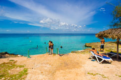 BAY OF PIGS, CUBA - SEPTEMBER 9, 2015:  Tourist Royalty Free Stock Photo