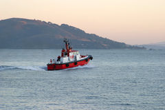 Bay Pilot. Start of a busy day for a harbor pilot boat Royalty Free Stock Photography