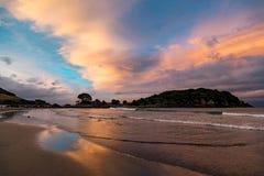 Bay Of Plenty sunset Royalty Free Stock Photo
