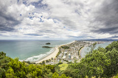 Bay Of Plenty view from Mount Maunganui Stock Images