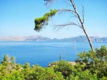 Bay of pollenca, Formentor peninsula - north coast of Majorca Stock Photography